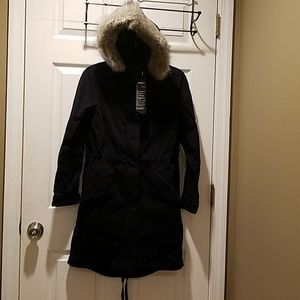 Gap 2 in 1 utility jacket ..navy blue xs
